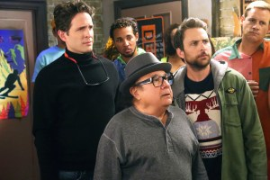 """IT'S ALWAYS SUNNY IN PHILADELPHIA -- """"The Gang Hits The Slopes"""" -- Episode 1103 (Airs Wednesday, January 20, 10:00 pm e/p) Pictured: (l-r) Glenn Howerton as Dennis, Danny DeVito as Frank, Charlie Day as Charlie. CR: Patrick McElhenney/FX"""