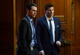 "BONES: L-R: John Boyd and David Boreanaz in the ""The Strike in the Chord"" episode of BONES airing Thursday, May 19 (8:00-9:00 PM ET/PT) on FOX. ©2016 Fox Broadcasting Co. Cr: Kevin Estrada/FOX"