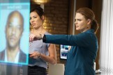 """BONES: L-R: Guest star Michaela Conlin and Emily Deschanel in the """"The Price for the Past"""" episode of BONES: THE FINAL CHAPTER airing Tuesday, Jan. 24 (9:01-10:00 PM ET/PT) on FOX. ©2016 Fox Broadcasting Co. Cr: Kevin Estrada/FOX"""