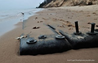 Shipwreck debris lakeshore
