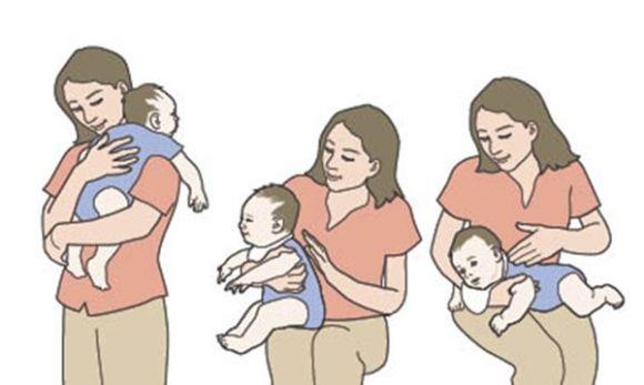 مساعدة الطفل الرضيع حديث الولادة على التجشؤ