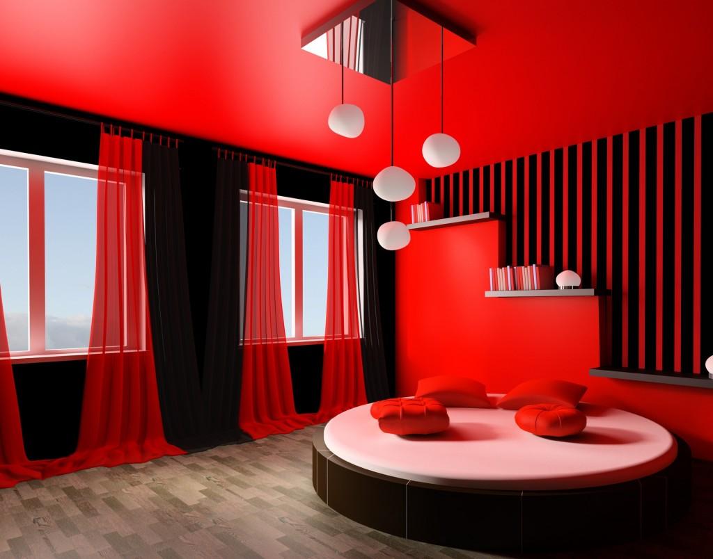 أكثر من ٤٠ موديل و ديكور لأحدث غرف نوم باللون الاحمر ٢٠١٥