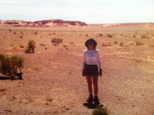 Bolor at the Flaming Cliffs, an important fossil site in the Gobi Desert where the first dinosaur eggs were found.