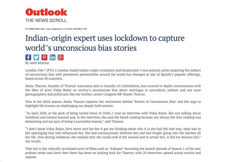 Outlook Review Tharoor Associates Unconscious Bias