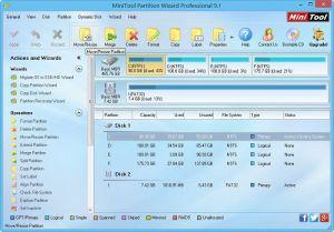 Bản quyền miễn phí MiniTool Partition Wizard Pro 9.1