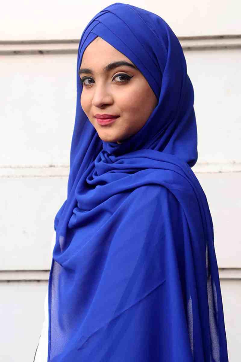 blue georgette hijab