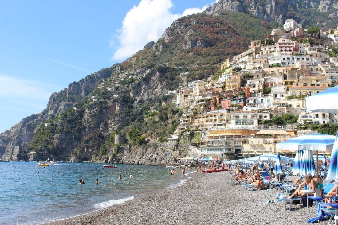 Amalfi Coast - The 5 Best Instagram Spots - View of Positano Beach, Italy