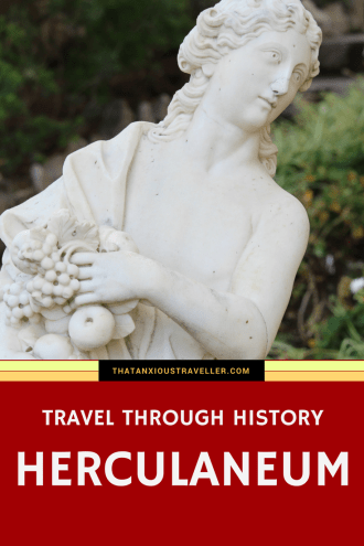 Want to be a time traveler? No problemo! (no, I can't send you back to that disastrous first date; sorry.) Read on, and find out how the Romans lived in the tragic town of Herculaneum, and find out what the future holds for this most ancient of places. https://thatanxioustraveller.com #travel #herculaneum #ercolano #italy #europe