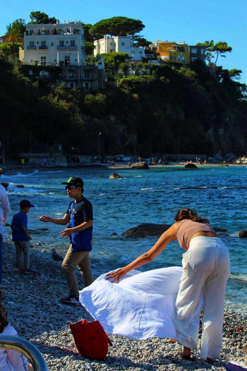 woman on beach capri