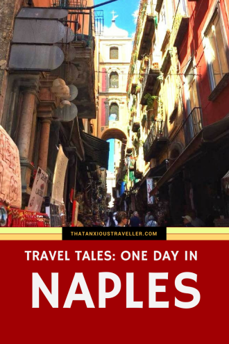 What can you do in one day in Naples? Well, read on to find out! One of Italy's most authentic cities, read about my Travel Tales experiences with beautiful churches, walking 40 foot beneath the surface, and an encounter with a god. https://thatanxioustraveller.com #travel #italy #naples #vacation