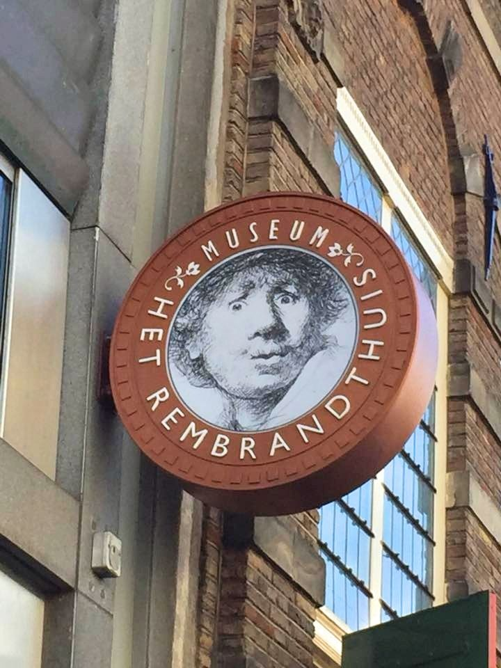 2 Days In Amsterdam - Travel Tales: Rembrandthuis Sign
