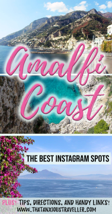 The Amalfi Coast is one of Italy's - and the world's - most beautiful places, and a photography dream. But what are the best spots to Instagram? Click here to find out! https://thatanxioustraveller.com #amalfi #italy #europe #travel #instagram