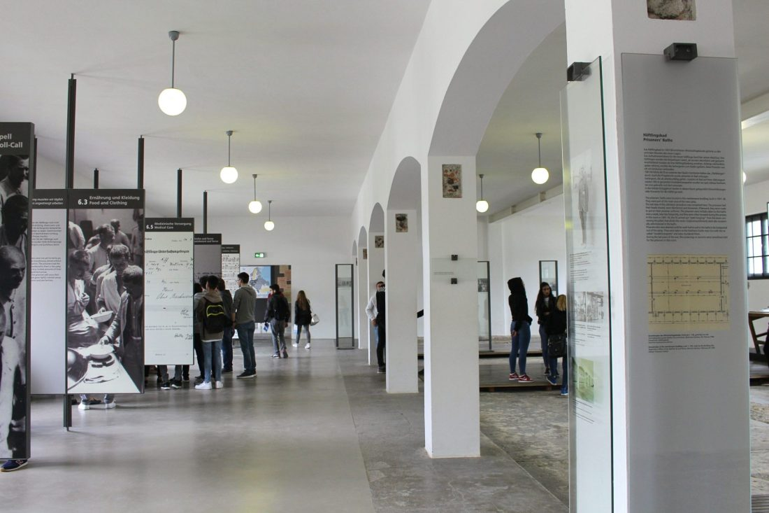 Dachau Information Hall. Visiting Dachau Concentration Camp Memorial Site https://thatanxioustraveller.com #europe #travel #munich #dachau #history