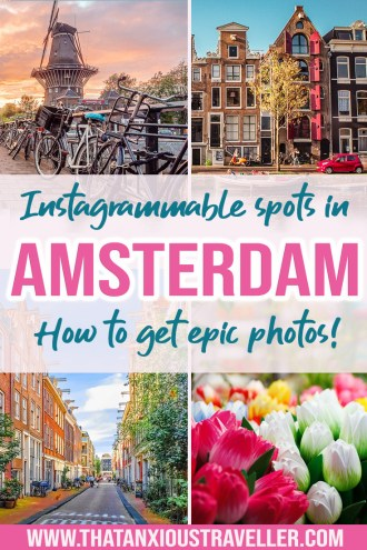 Planning some Amsterdam photography, and want tips, tricks, and inspiration? Find all the best spots for pictures with this Amsterdam Instagram guide! Get all the info on the 20 most Instagrammable places in Amsterdam, including iconic houses and the city's most beautiful places. There's even a map to help you find them! #amsterdam #instagram #netherlands