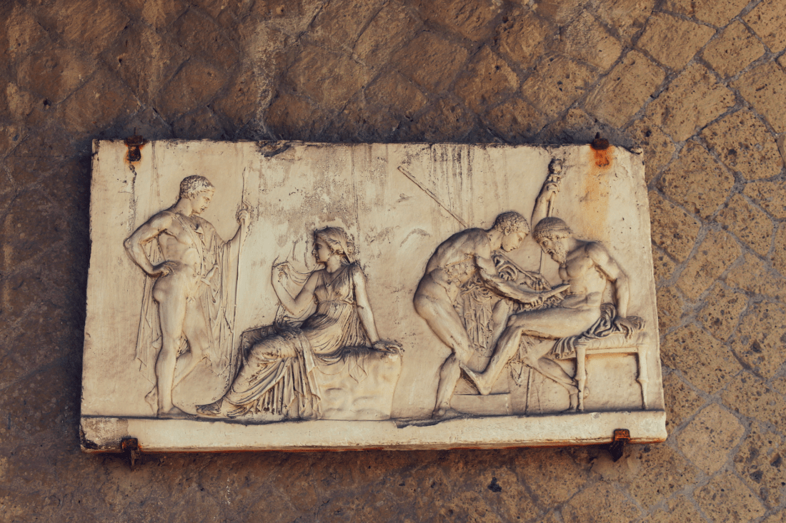Herculaneum wall frieze