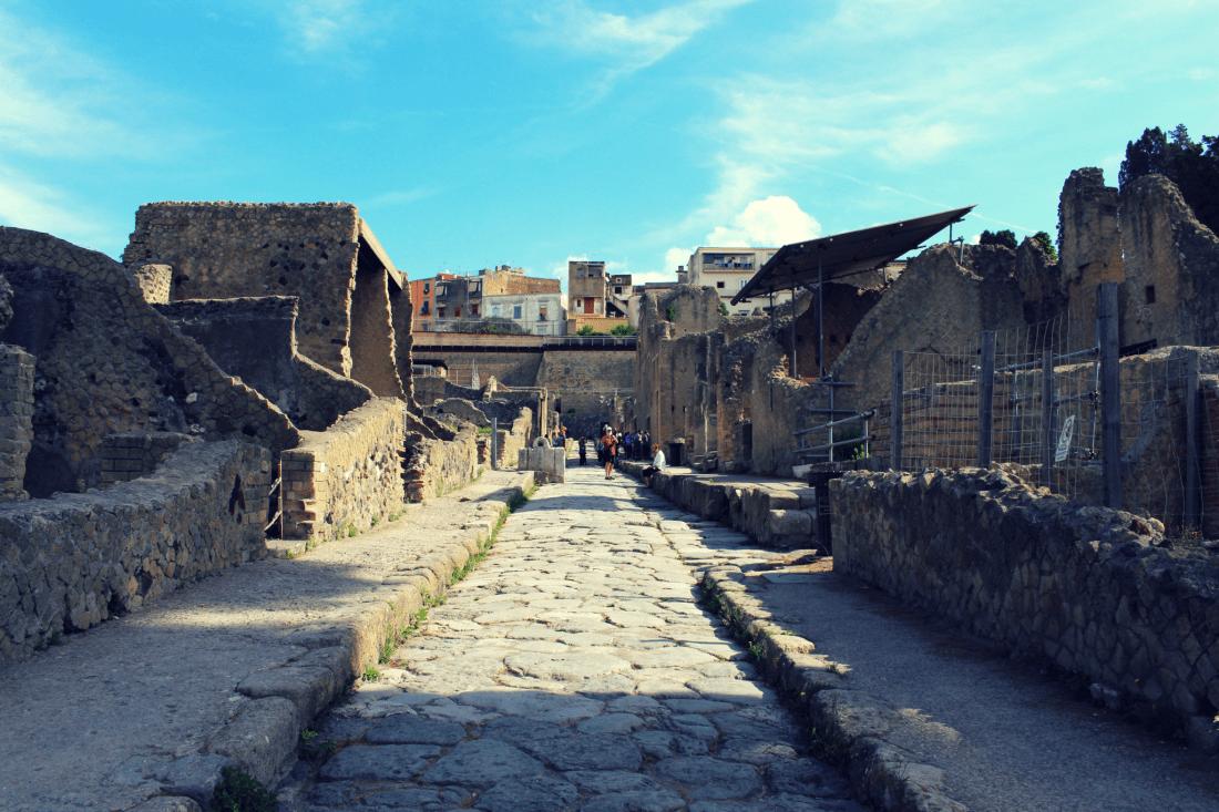 Street in Herculaneum