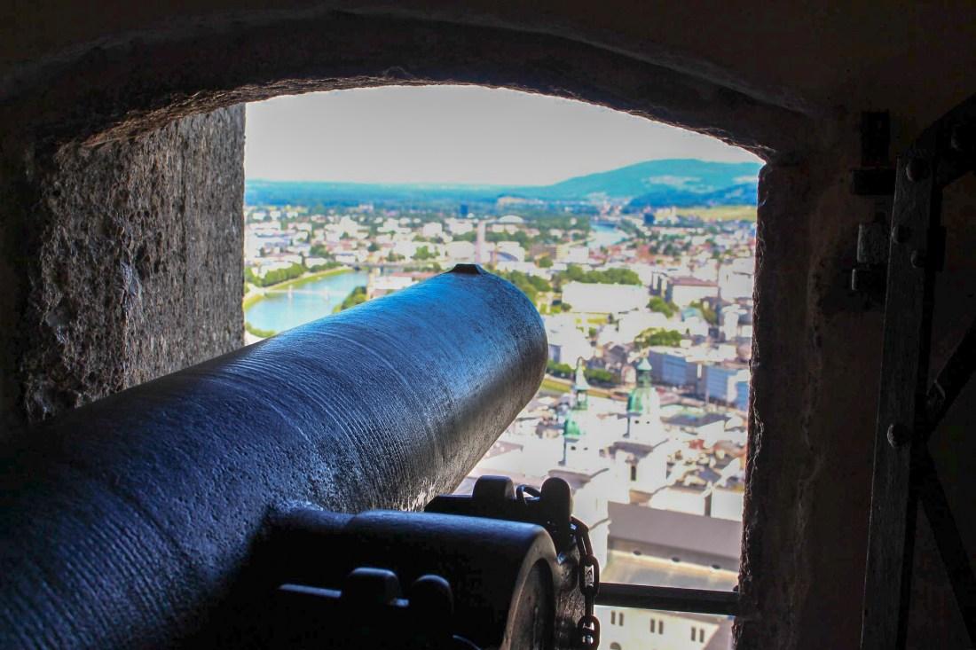 Salzburg itinerary - Festung Hohensalzburg cannon