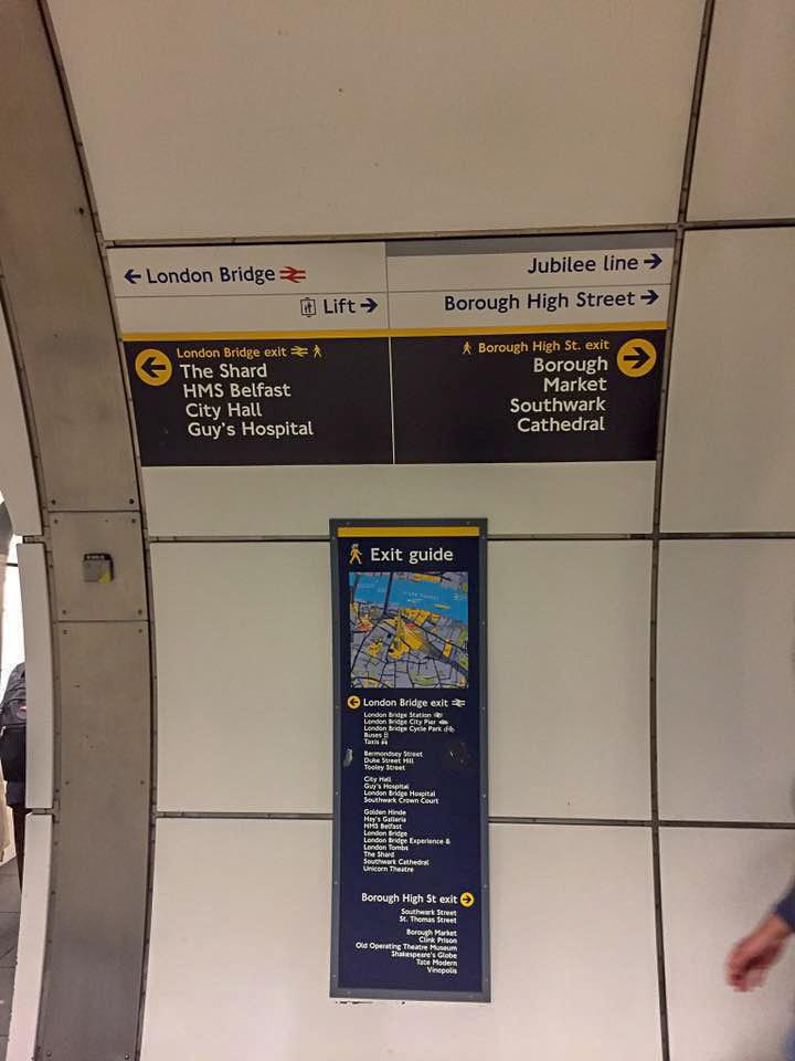 London Underground exit signs