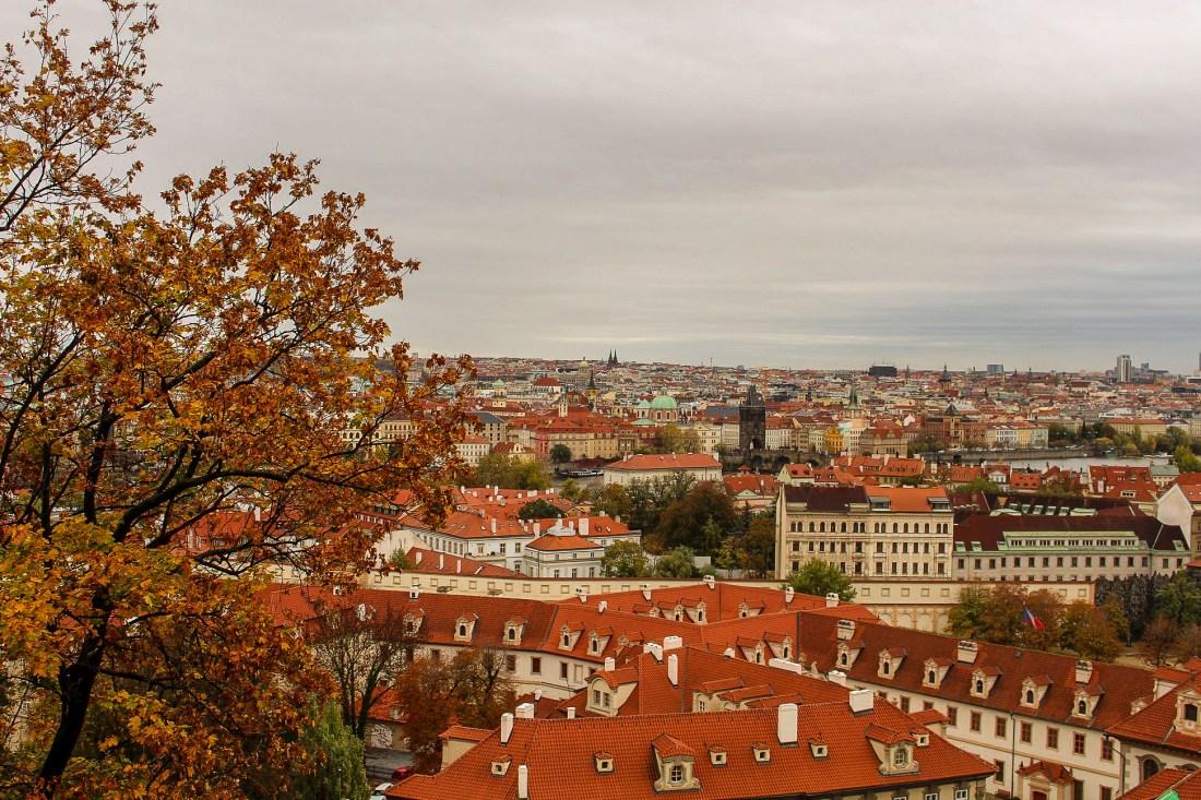 View of Prague in autumn