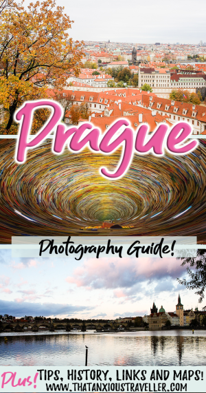 Looking for the most Instagrammable places in Prague? Read this: we've got 25 of the best photography spots in Prague, with maps, links, historical info, and tips on where to get the best shots! Enjoy this photography guide, and get the most out of your Instagram account! https://thatanxioustraveller.com #prague #instagram #travel #photography #photos #tips #guide