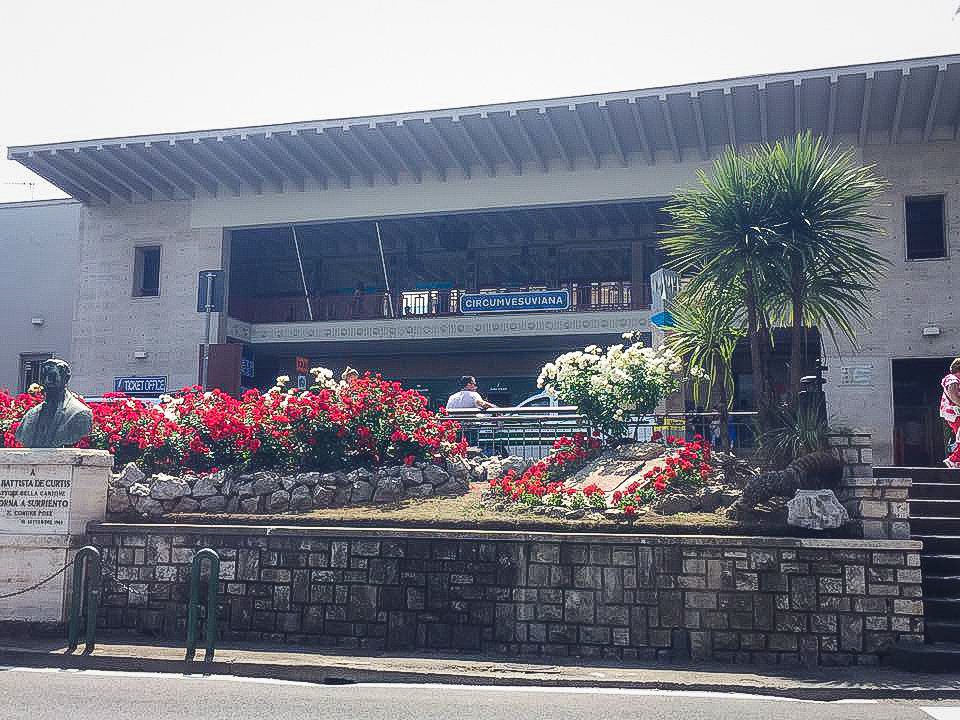 The outside of Sorrento train station