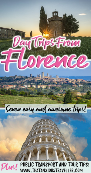 Looking for the best day trips from Florence, to Pisa, Siena, San Gimignano, Cinque Terre, Lucca, Bologna, or beyond? Find seven easy day trips from Florence here, with public transport information and tour tips! https://thatanxioustraveller.com #florence #day #trip #siena #pisa #lucca #cinque #terre #italy