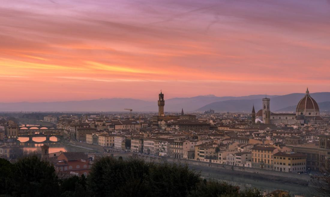 The Skyline of Florence at sunset