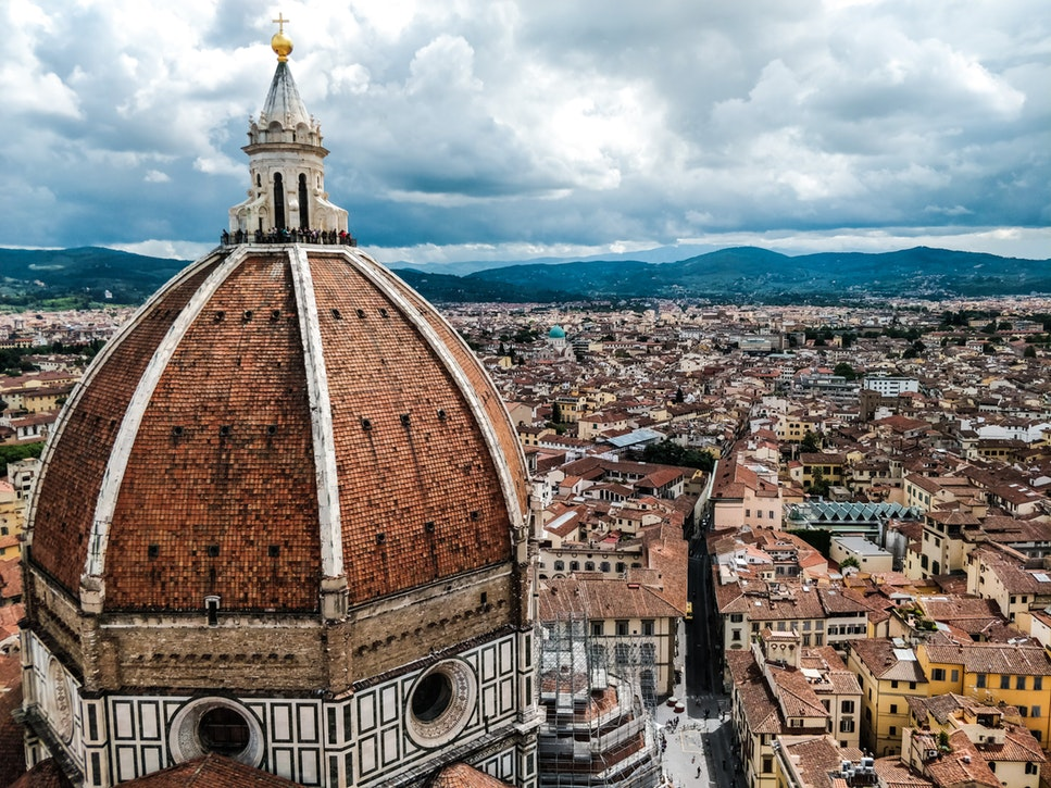 View of the top of Florence's Duomo - 2 days in Florence itinerary