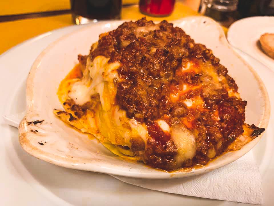 Lasagna from Pensavo Peggio, Florence