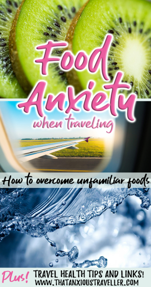 Do you or your family suffer from food anxiety when traveling? Do you struggle to overcome a fear of unfamiliar foods? Find out how to beat your food travel anxiety here, with tips, tricks, and travel health advice! #thatanxioustraveller #food #travel #anxiety #help #advice #health