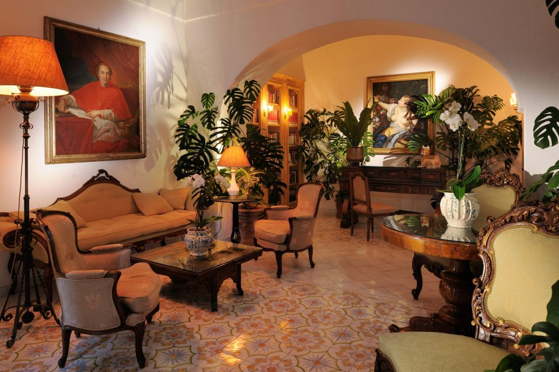 The beautiful interior of the Le Sirenuse hotel, Positano - The best hotels on the Amalfi Coast for all budgets