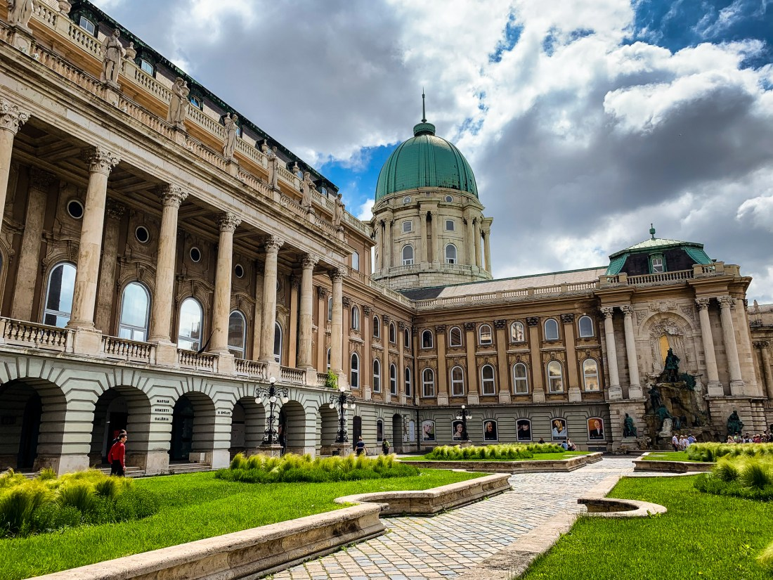 The courtyard of Buda Castle, Budapest