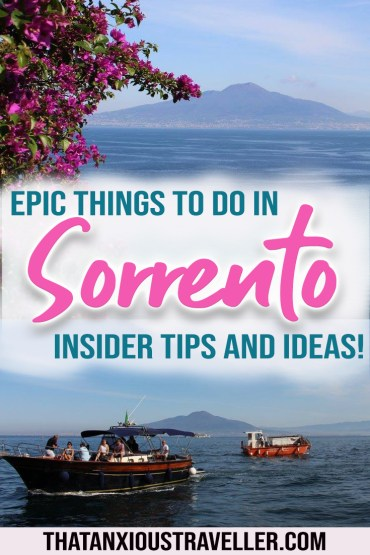 Travelling to Sorrento Italy? Whether you're looking for unique things to do in Sorrento Italy, or outfits for a wedding trip, this guide has you covered! Discover historical sites near Sorrento, and things to do in Sorrento when it rains, plus some unusual things to do in Sorrento and things to do in Sorrento for families! #sorrento #italy #europe
