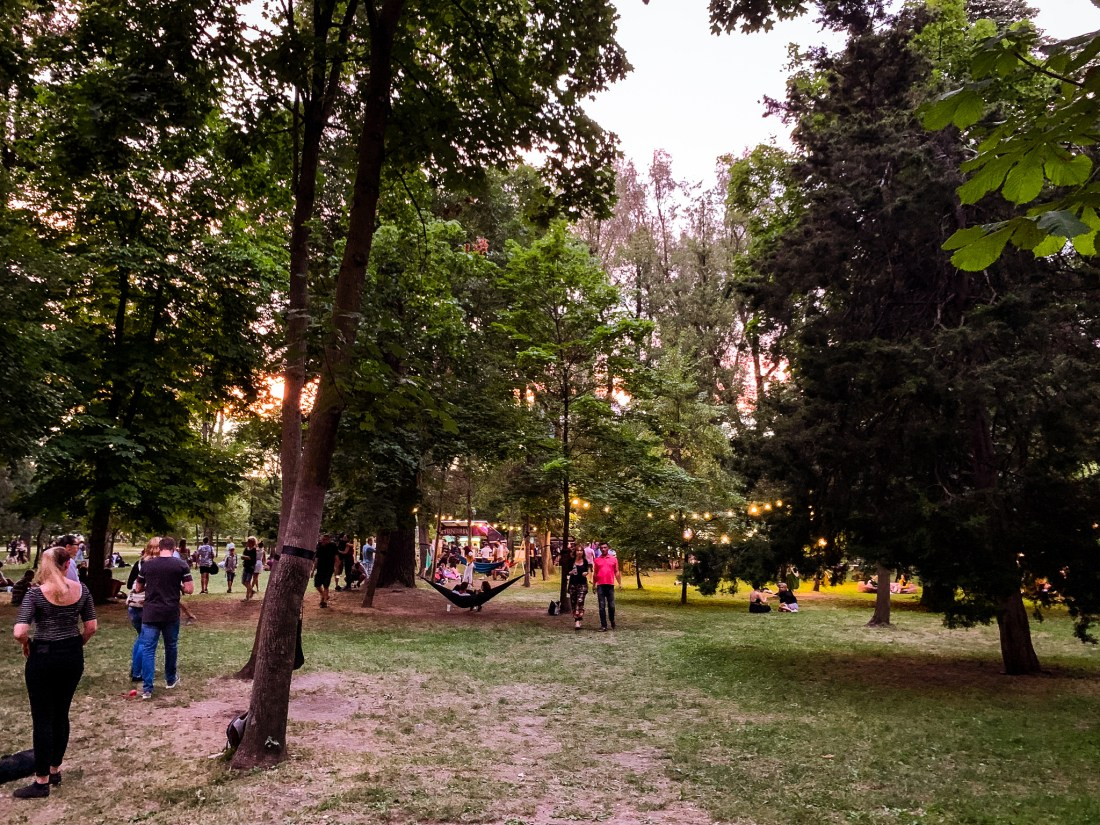 Central Park in Cluj during the Jazz in the Park festival is a delight!