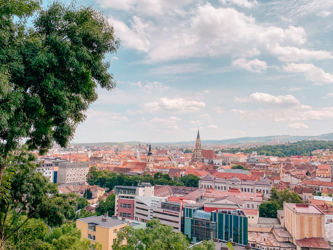 A view of Cluj in Romania. Walking up the hill is one of the best things to do in Cluj