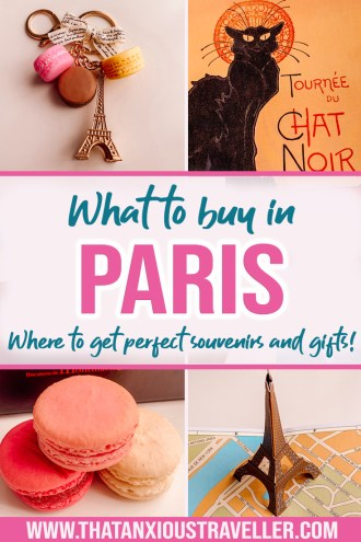 Looking for Paris gifts? You'll find them here with this guide to Paris souvenirs! With helpful links to buy online (in case you missed them!), you'll get plenty of souvenir ideas for your friends, loved ones, for kids, and for you! Art lovers and Paris lovers will be equally thrilled by their perfect present! Be in fashion, and get shopping! #paris #shopping #souvenir #gifts #france