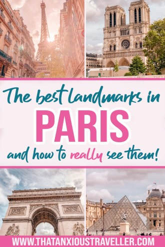 Looking for things to do in Paris? Find everything you need with this guide to Paris landmarks! Don't just settle for doing photography and leaving; this guide gives you info and history on every sight - and tells you the best way to find out more! From the Eiffel Tower to Notre Dame to the Arc de Triomphe, discover Paris history and learn how to really fall in love with the most beautiful places in Paris - make the most of your Paris travel and find out the best things to see in Paris! #Paris #ParisTravel #ParisLandmarks #ParisPhotography