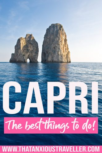 Want to learn the tips, secrets and hacks of a five-time visitor to Capri? Get all the info with the ultimate guide to things to do in Capri! This Capri travel guide features romantic things to do in Capri, Italy, Capri things to do in one day, the best places to stay in Capri Italy, how to do a day trip to Capri, where to get the best food, and the best hotels in Capri! Learn about the Blue Grotto, wedding photography spots, and even outfits to wear! #Capri #Italy #ItalyTravel #CapriGuide