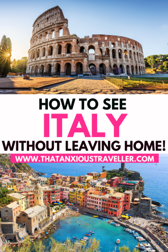 Feel like visiting Italy, but not able to at the moment? Want to know how to visit Italy from home, and STILL get the full Italian experience? Discover the secret with this guide to taking your own virtual tour of Italy! Covering everything you need for your Italy staycation, check out virtual museum tours and virtual art galleries, Italy city walks, online Italian cooking classes, language classes and more. Get awesome Italy travel inspiration! #Italy #ItalyTravel #VirtualTours #ItalyTours