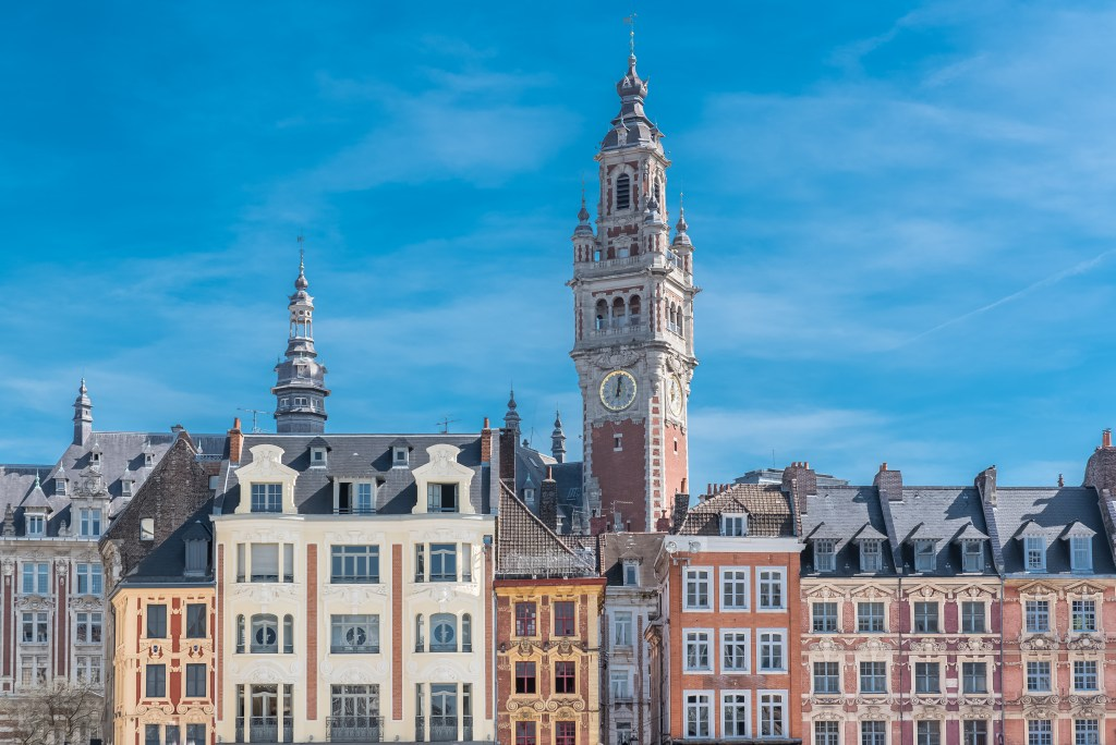 Old buildings in Lille, France