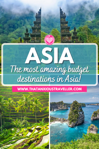 Want to know how to travel Asia on a budget? Get all the info you need with this guide to 35 cheap places to travel in Asia! With destination inspiration, and everything you need to know for working out your daily budget, you'll be ready for cheap Asia travel without compromising on your experience. Featuring locations in Southeast Asia - Thailand, Vietnam, Laos, Cambodia - and beyond, you'll find everything for a perfect trip! #Asia #BudgetDestinations #AsiaOnABudget #Travel Asia