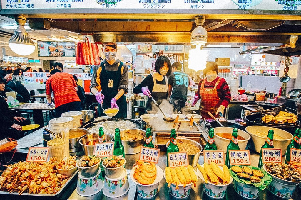 A market stall in Taipei; a great destination for budget travellers