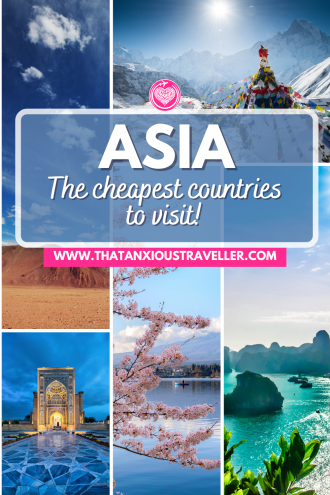 Looking for cheap countries to visit in Asia? Get travel inspiration, practical advice, and budget tips with this guide to the cheapest countries in Asia! Featuring Asia backpacker favourites such as Vietnam, as well as destinations such as Iran, Georgia, and Armenia - you can also discover how to visit Japan, Singapore and South Korea on the cheap! Learn how to have an epic trip without breaking the bank! #AsiaTravel #BudgetTravel #AsiaOnABudget #AsiaDestinations