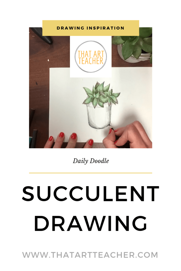 Find daily drawing inspiration with these quick drawings. Succulents are fun and simple to draw, all you need are colored pencils!