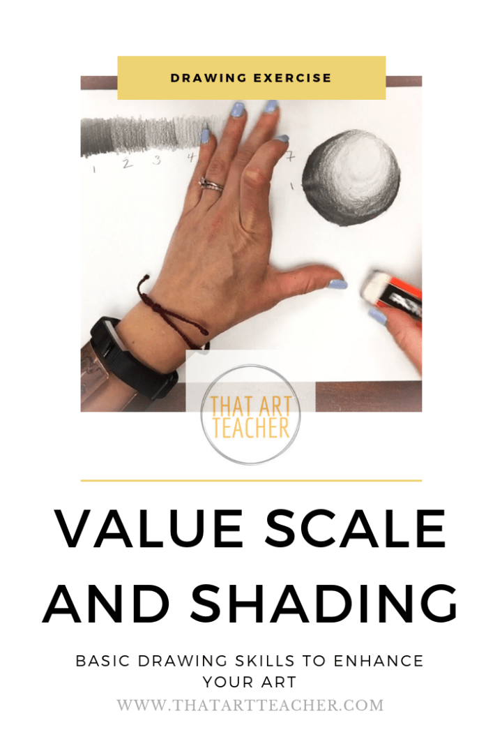 Practicing a value scale can help improve your drawing skills and using shading can make your drawings POP!