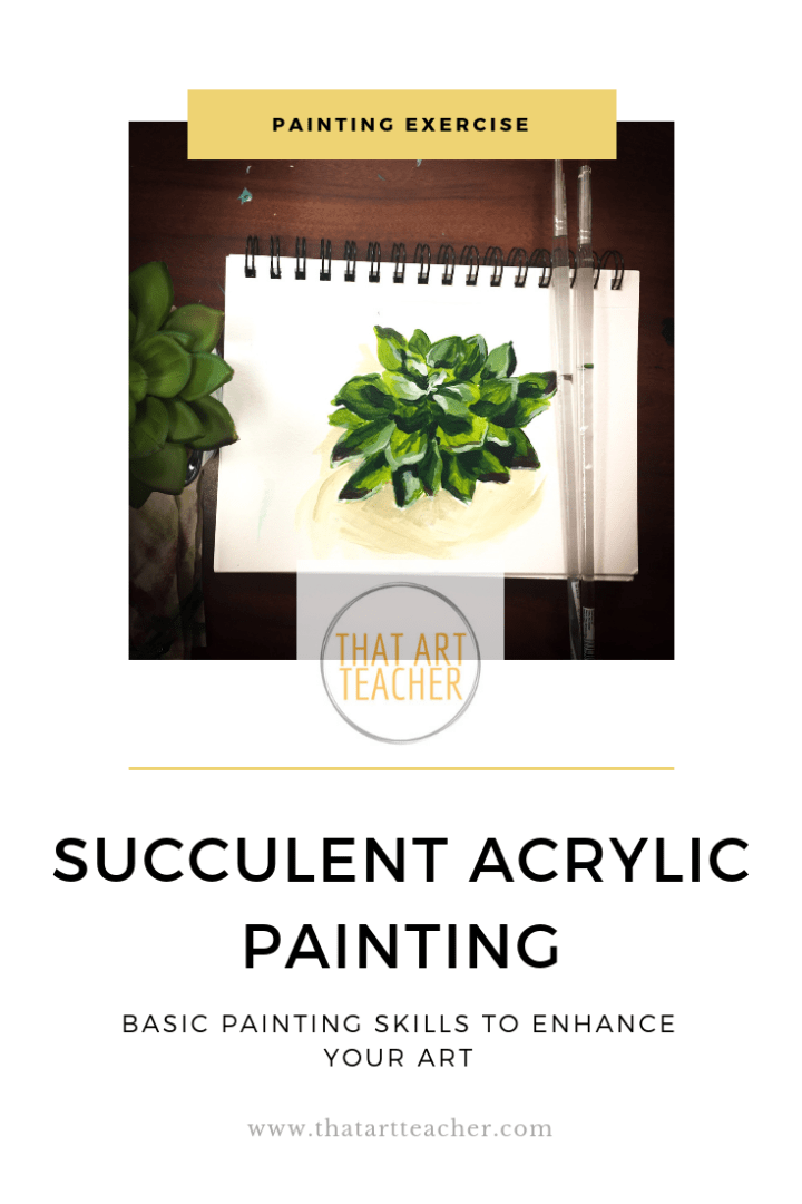 This time-lapse video shows you how to paint a succulent plant using acrylic paint and only four colors!