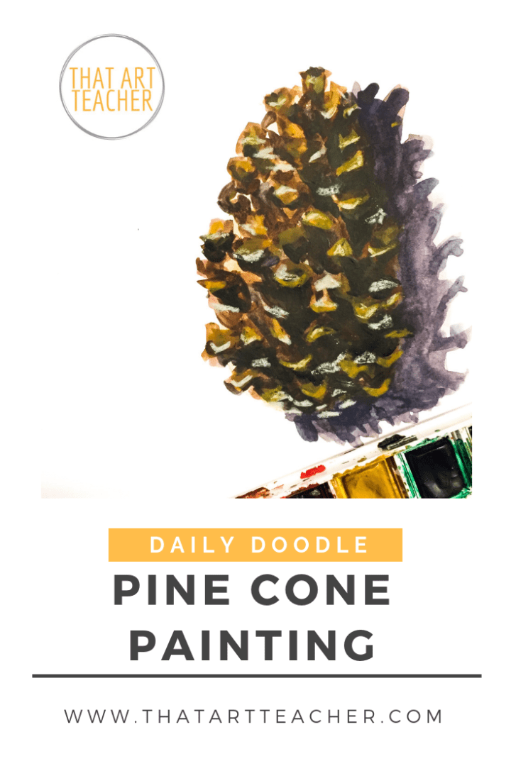 Learn how to paint a detailed pine cone with layers of watercolor and watercolor pencil with this time lapse tutorial!