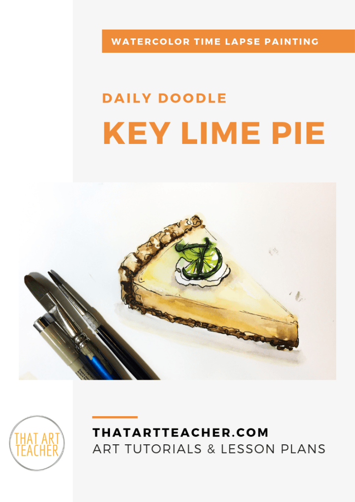 Learn how simple painting key lime pie can be with this watercolor time lapse painting!