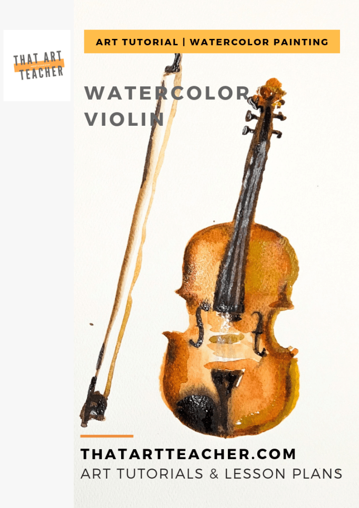 This full length tutorial will teach you how to layer burnt sienna and umber to create a violin painting with just enough details!