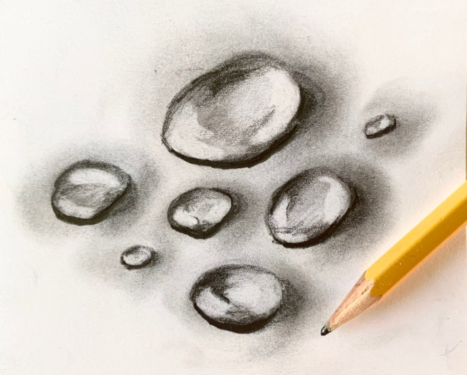 how to shade water droplets